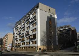zateplené fasády objektu domu s pečovatelskou službou Roháčova 24,26 Praha 3